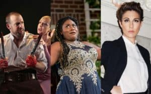 Four actors in Shakespeare's plays