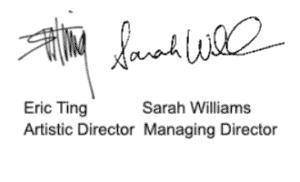 Eric Ting and Sarah Williams signature