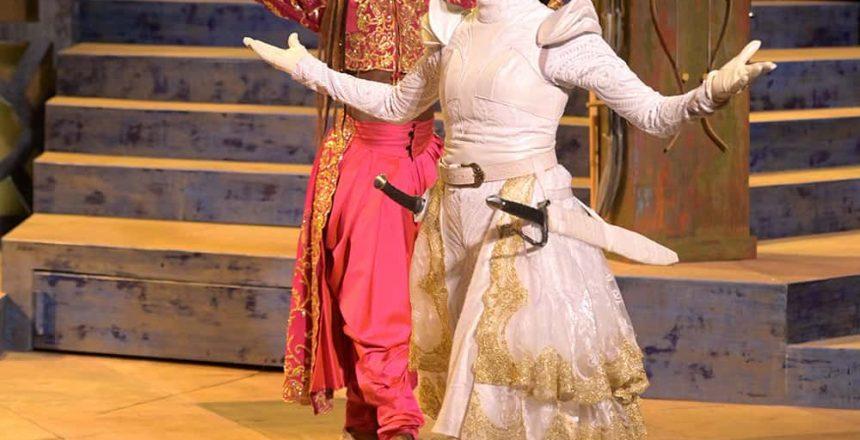 (l-r) Rotimi Agbabiaka (Salima) and Emma Van Lare (Hamida)